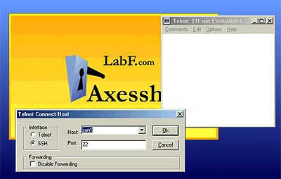 Axessh Windows SSH Client and SSH Server screen shot